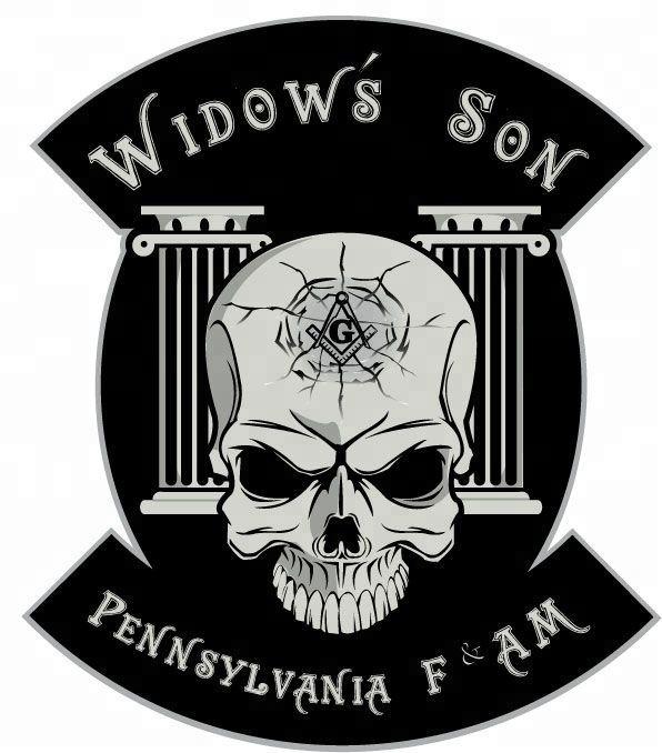 MASONIC Widows Sons Skull Bones SQUARE COMPASS  EMROIDERED  PATCH