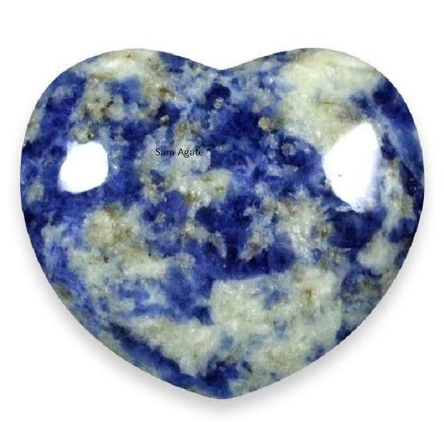 Sodalite Agate Heart : Buy Online From Sara Agate From India