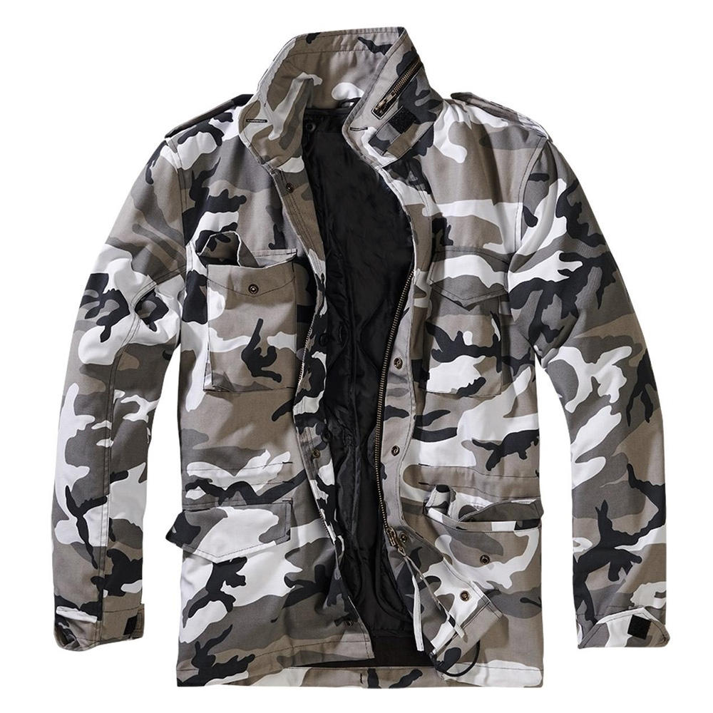 Custom Wholesale Army Padding Plain Satin Jacket