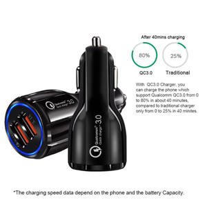 OEM 3.1A Portable Qualcomm Phone fast Charger 2 Port USB car battery Quick Charge 3.0 Car Charger Dual usb