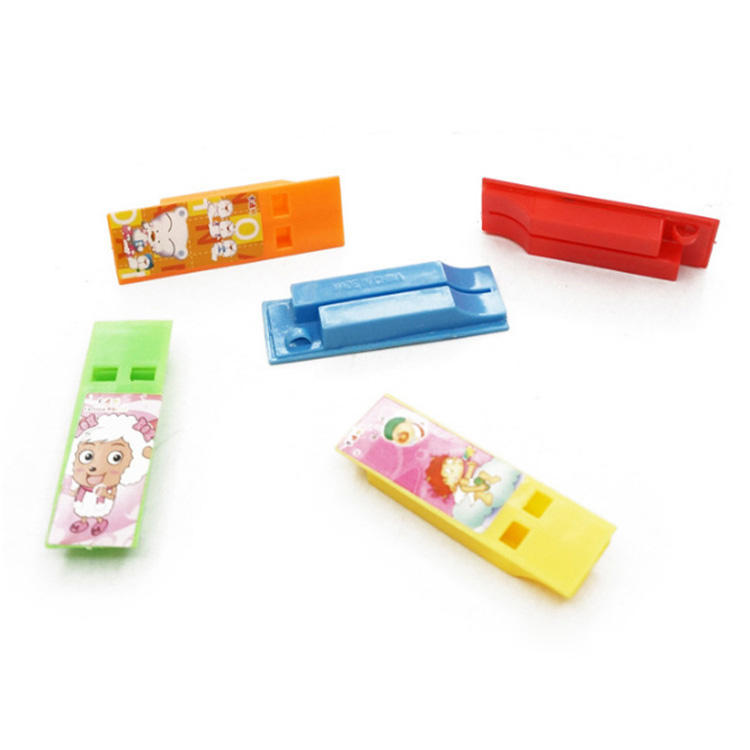 Flat Whistle Toys Kids Plastic Promotional Product