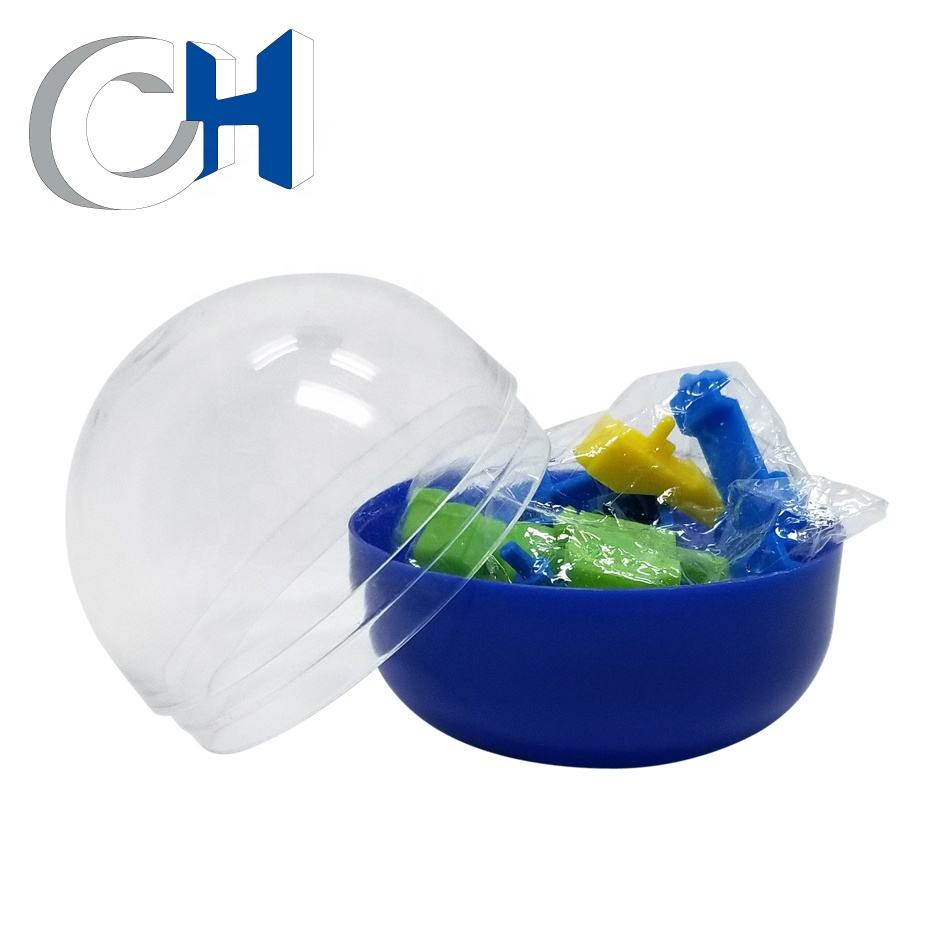 Hot Sale Creative Transparent Blue Plastic PP surprise egg toy