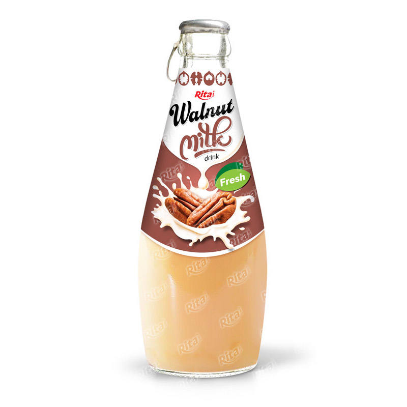 290ml glass bottle walnut milk drink