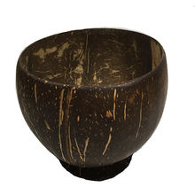 Coconut Shell Bowl with foot  Bottom Eco- Friendly handmade  from Thailand