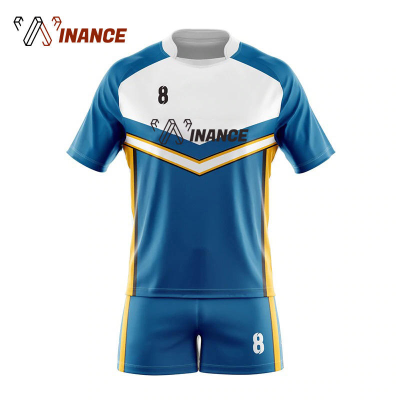 OEM 100% Polyester Custom Team Set Rugby Jersey