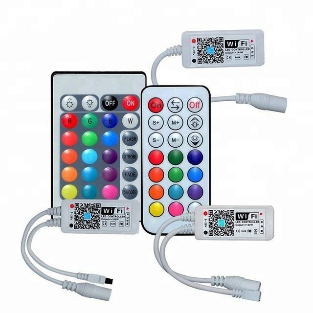 cct tira con controllers set of 3 light strip lights dimming bulb with rf remote control rgb wifi led controller