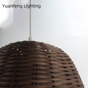 Hand knitting rattan lamp shade handmade pendant lampshades and ceiling lamp shade light pendant