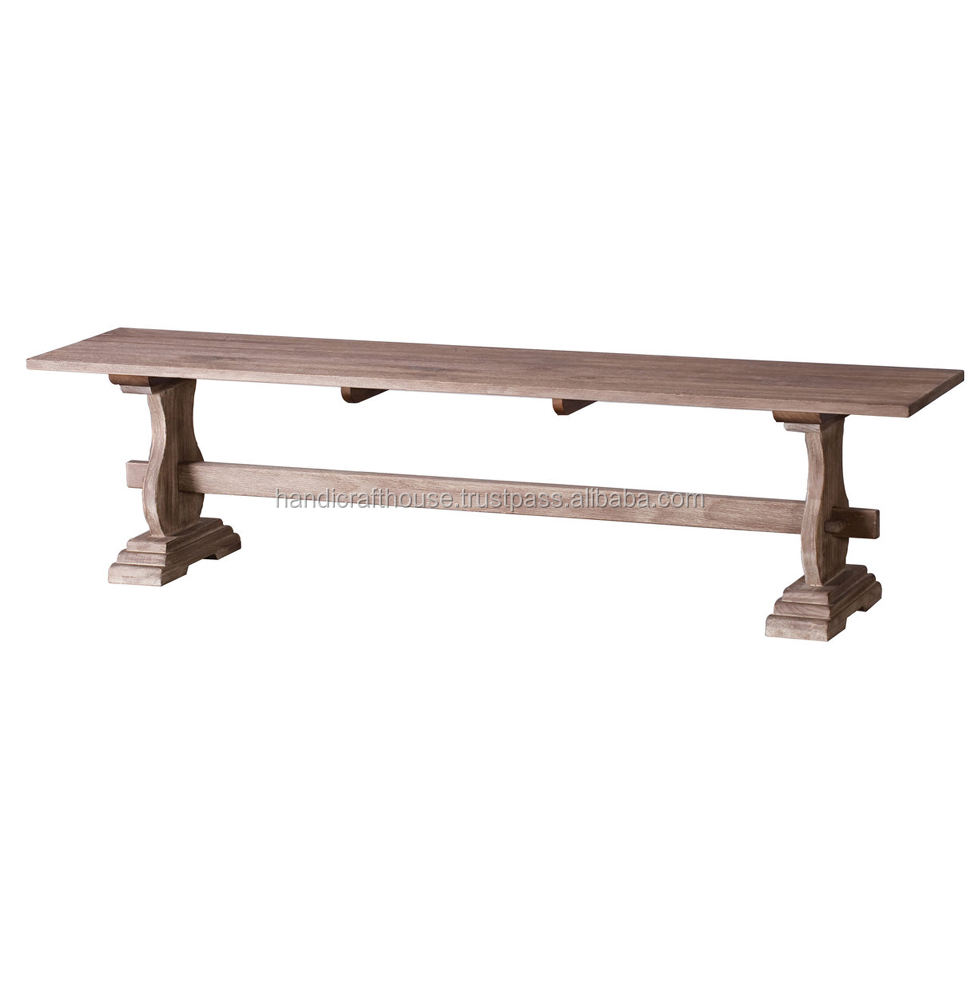 Industrial Indian Reclaimed wood natural long outdoor furniture bench