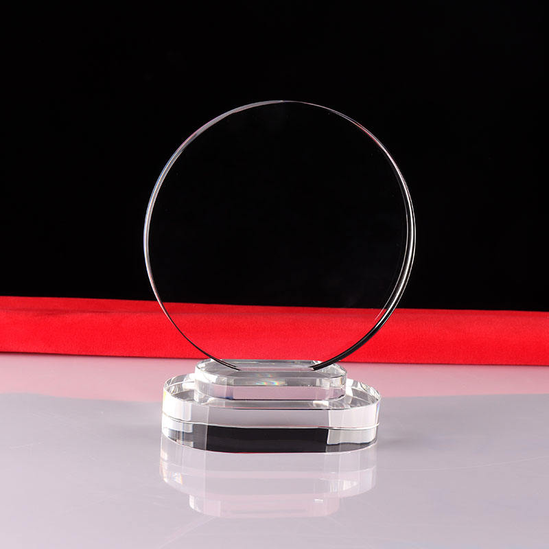 Wholesale blank crystal trophy, crystal glass award and engraving plaque