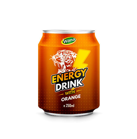 Custom Label Energy Drink Suppliers with Custom Flavour in 250ml Short can