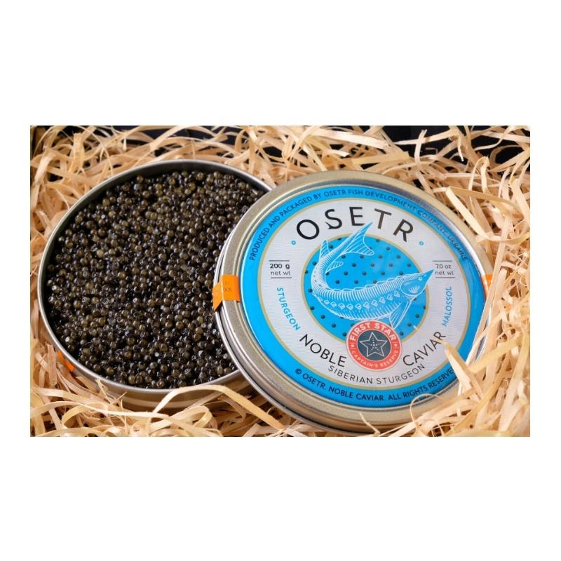 Best Quality Delicious Taste Russian Sturgeon Black Roe Caviar
