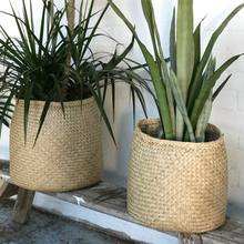 Eco friend seagrass flower pot and planter basket