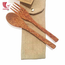 Coconut Spoon & Fork Utensils For Safe Food Set / Coconut spoon wholesale
