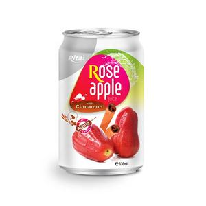High Quality Fruit Juice Drink 330ml Canned Rose Apple Juice With Cinnamon
