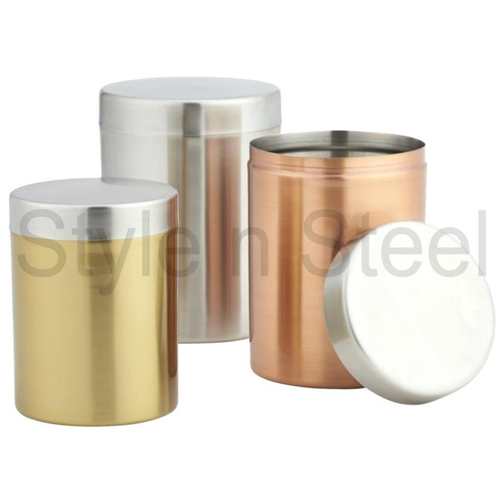 Stainless Steel Mix Canister Set With Color