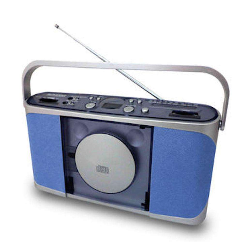 CT-287 LCD Display With Blue Backlight Double Speaker Vertical CD Player AM FM Analogue Radio Boombox