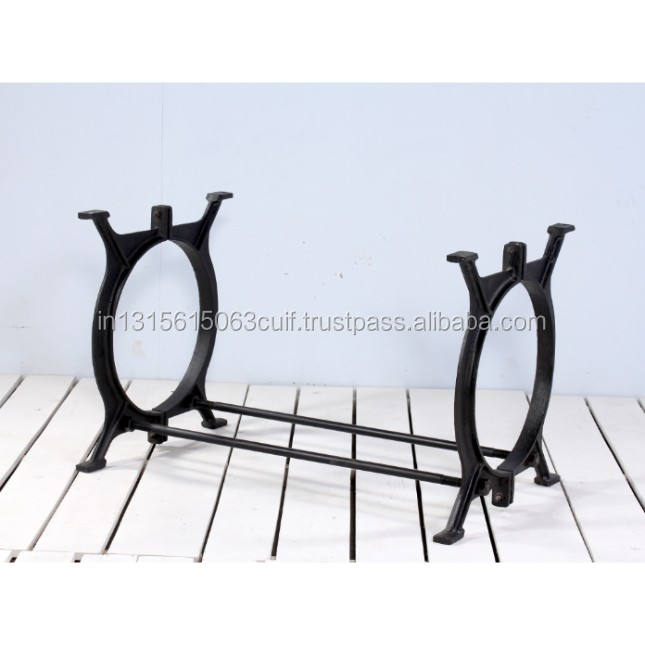 industrial refectory cast iron communal dining table base