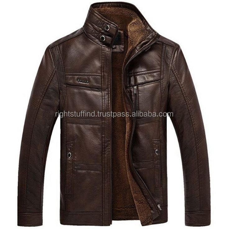 MEN PERFECT STYLE QUILTED REAL LEATHER MOTORBIKE MOTORCYCLE / BIKER JACKET