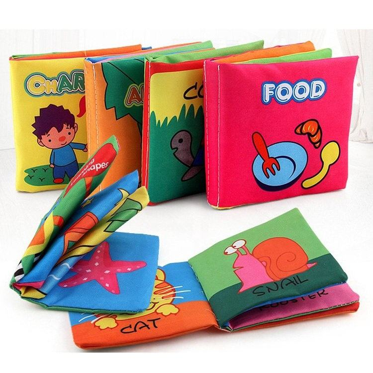 toys 2020 Wholesale Cloth Book Baby Education Soft Cloth Book,Fabric Book