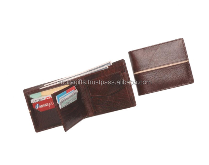 Real Brown Cowhide Leather Factory Price Genuine Leather Gents Wallet