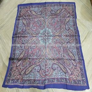 cotton printed square scarves from india