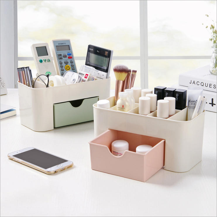 2019 Plastic Desktop Storage Stand Drawer Type Cosmetic Organiser Table Storage Box F or Pen Jewelry Organizer Storage