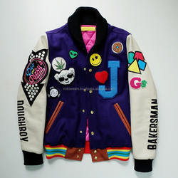 New Color Combination with Embroidery Varsity Letterman Jack