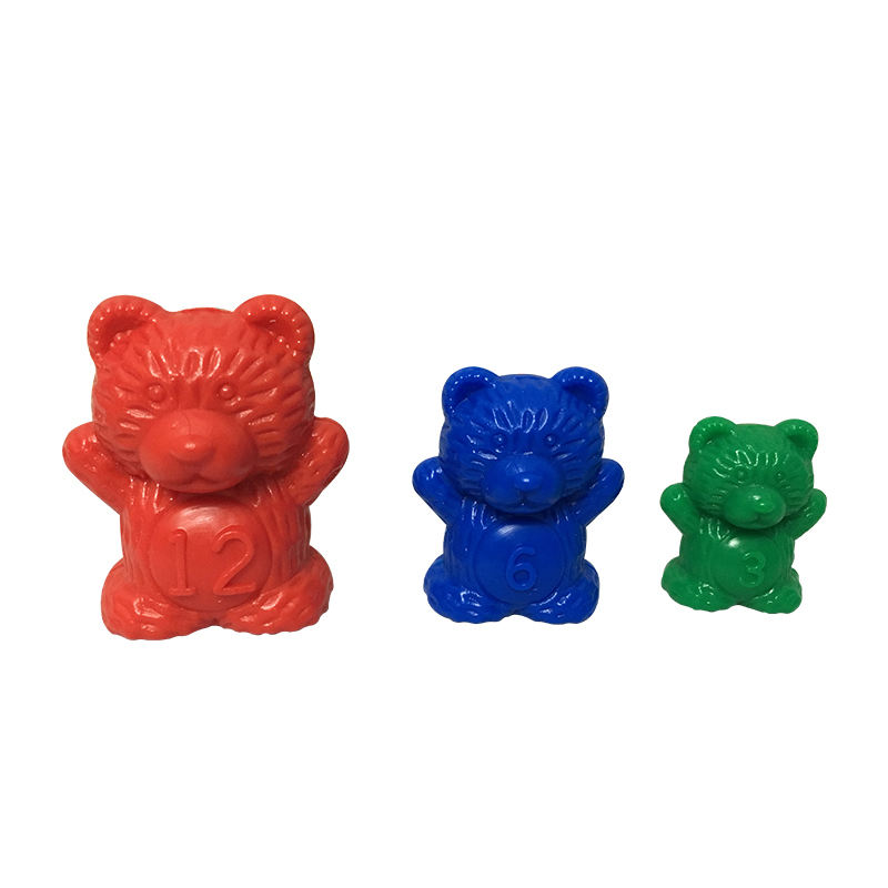 NEW hot sale preeschool 48 Pcs plastic bear counters educational toys for kids