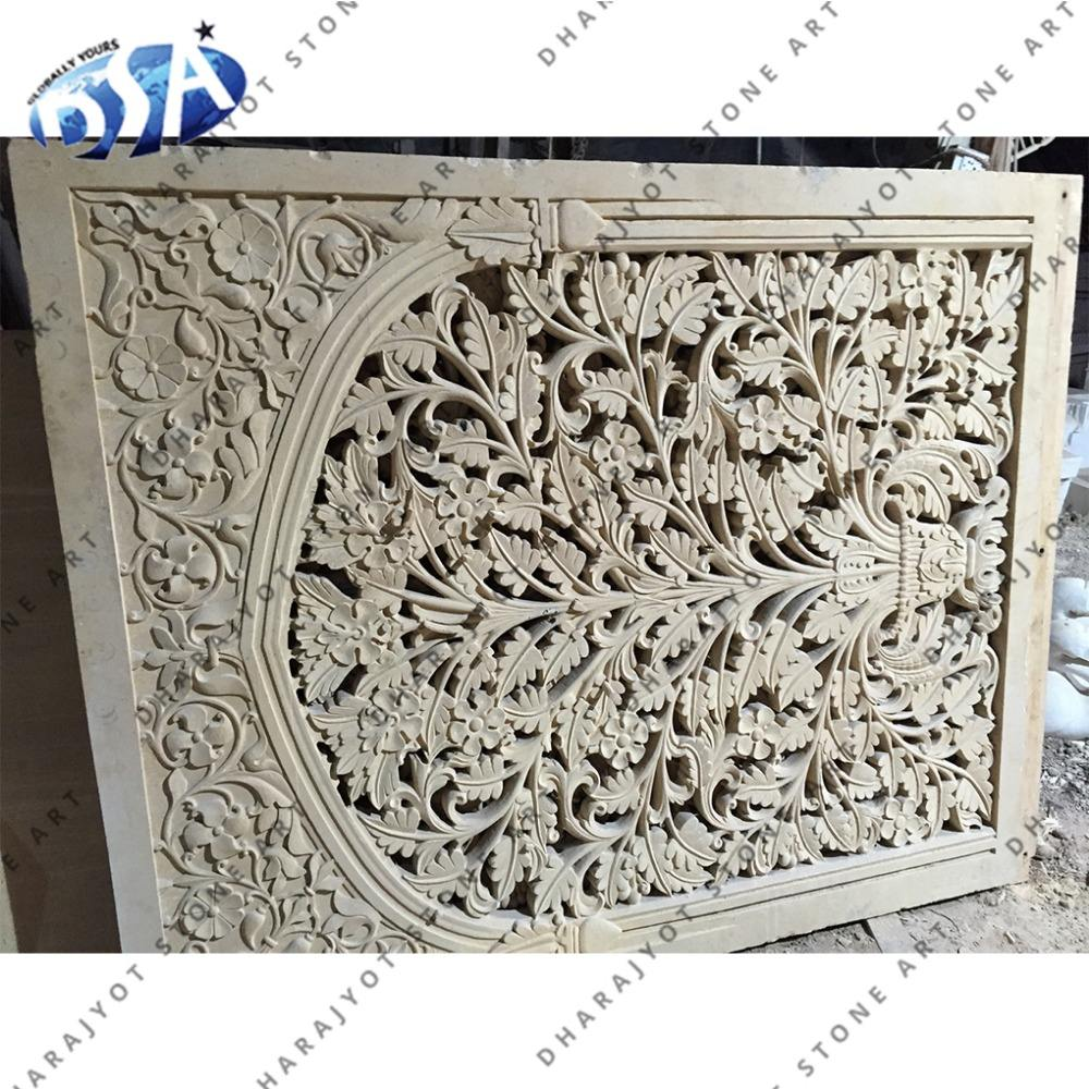 white sandstone beautiful hand craft home outdoor big jali