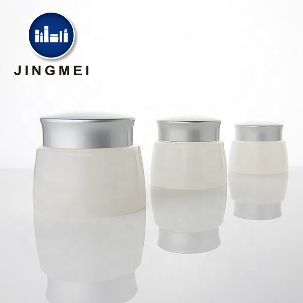30ml 50ml 80ml Glass Look Jar PP Plastic Cosmetic Cream Container