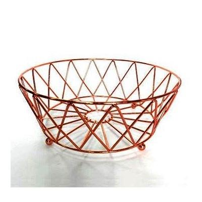 BASKET ROUND SHAPE COPPER PLATED