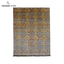 Hand-knotted Ikat Carpet Manufacturer From Jaipur Z-866 Area Rug