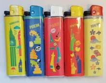 Top Quality Plastic Electronic Gas Lighter with Cricket Lighter