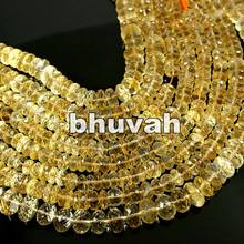 Charm Loose Strand Bracelet Bangles Ring Beads Crystal Citrine 13 Inch3-4mm