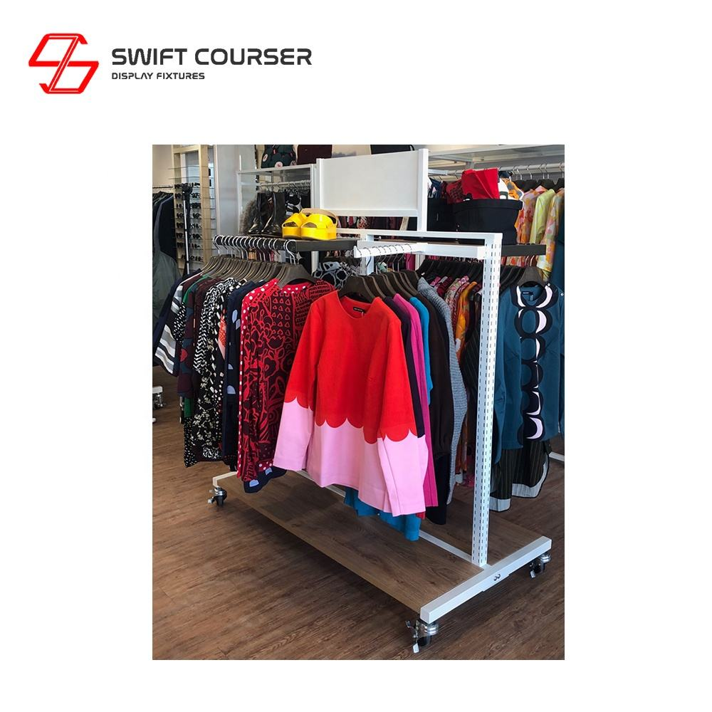 Retail clothing display rails rack for boutique