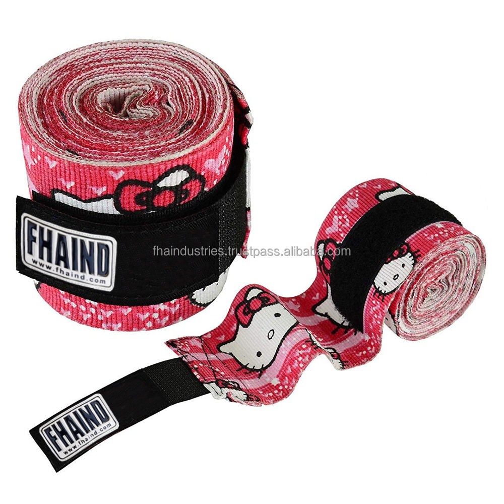 Wholesale MMA custom cotton Boxing Muay Thai Hand Wraps