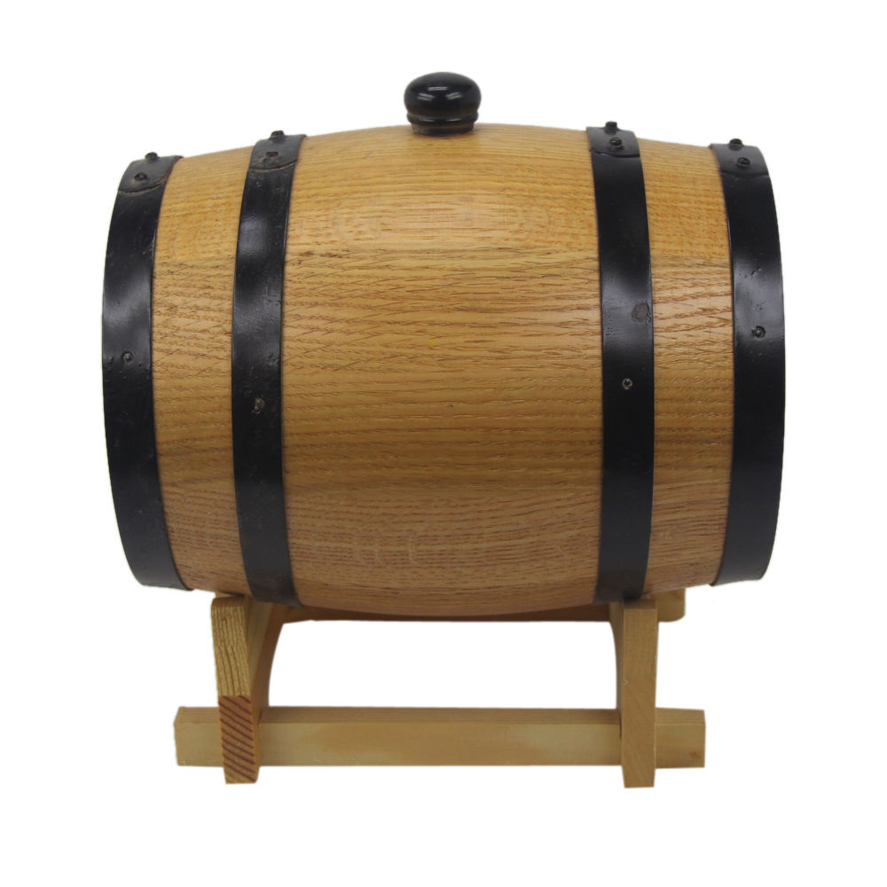 factory wholesale cheap oak wooden barrel with lid