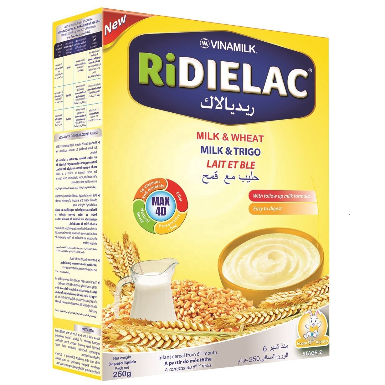 RIDIELAC Infant Cereal Milk Wheat - VINAMILK