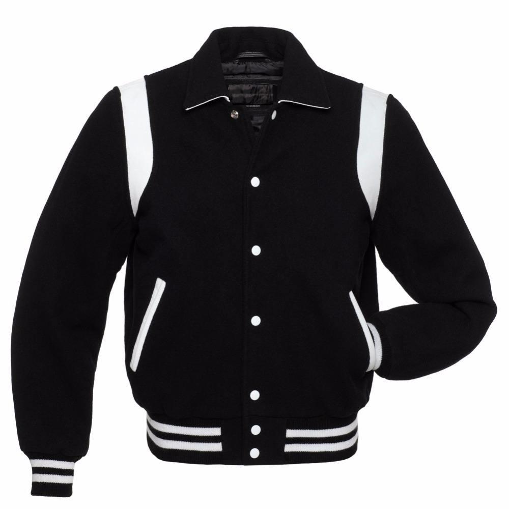 Fabricação deste custom jaquetas do time do colégio Letterman jaquetas de lã jaquetas de couro