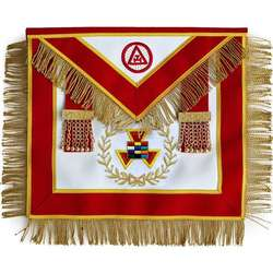 Masonic Royal Arch Past High Priest Apron PHP with Tassels Hand Embroidered Masonic Royal Arch Past High Priest PHP Bullion Hand