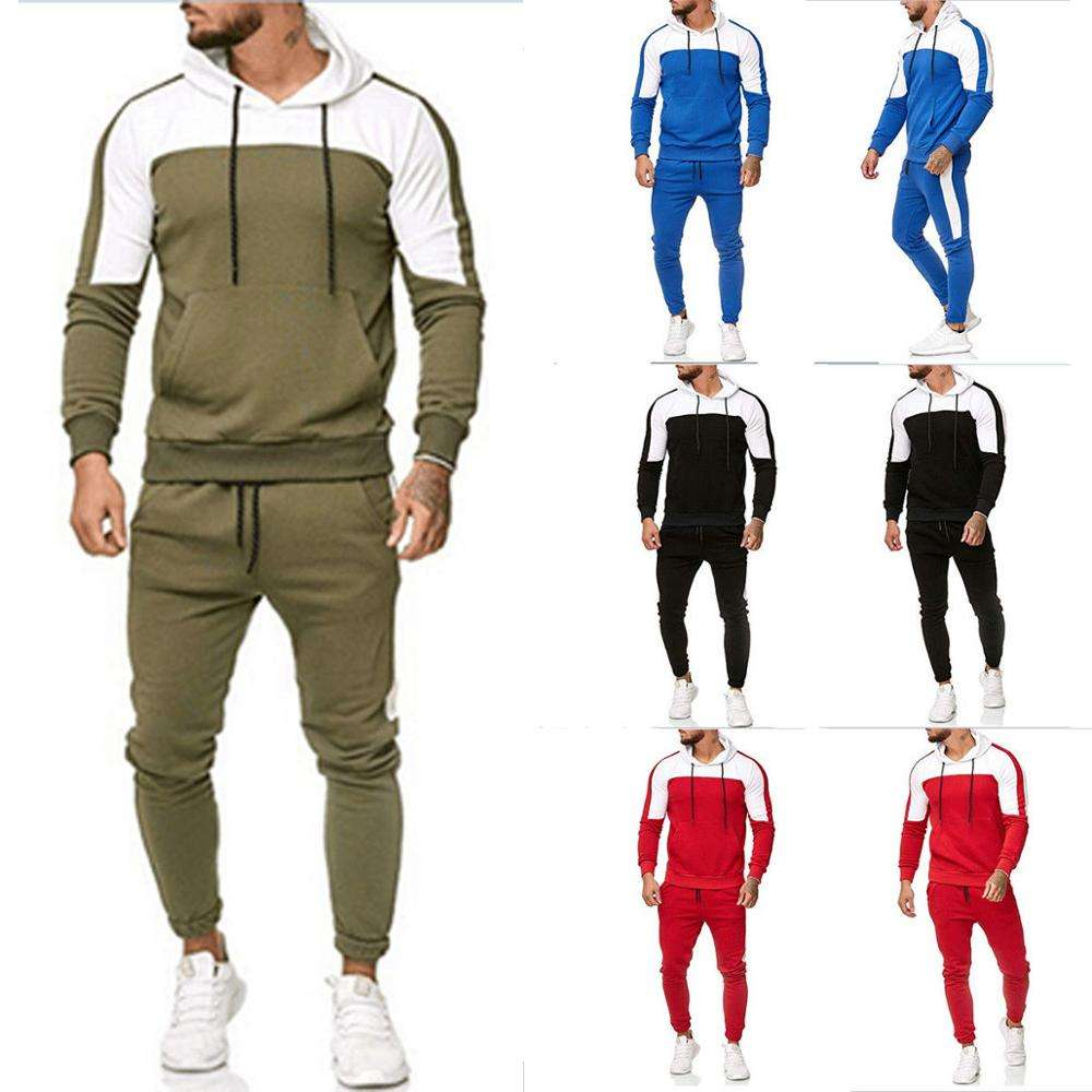 Groothandel OEM Hooded Sweat Suits mannen jogger sets Custom <span class=keywords><strong>trainingspak</strong></span>
