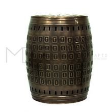 Decorative Drum Cutouts Interior Exterior Garden Stool