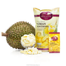 Freeze Dried Durian Dried Tropical Fruits Thai Durian Monthong 100% Sweet Natural Premium Crispy Fruit Snack Thailand Hot Sale