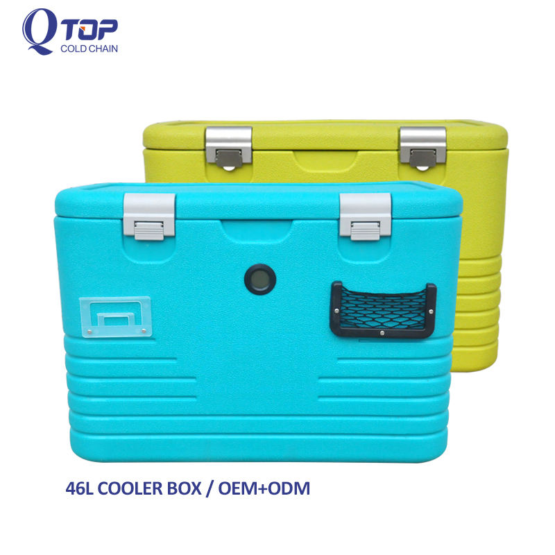 factory wholesale 46L camping cooler foam cooler box for Automotive supplies