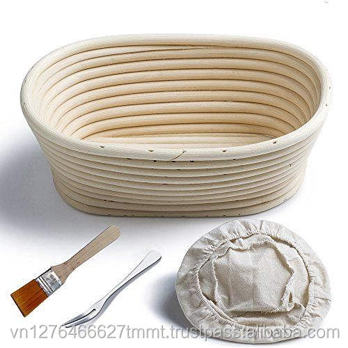 Bread rattan proofing basket/ Oval Baneton Basket/ Proofing Rising Rattan Bowl
