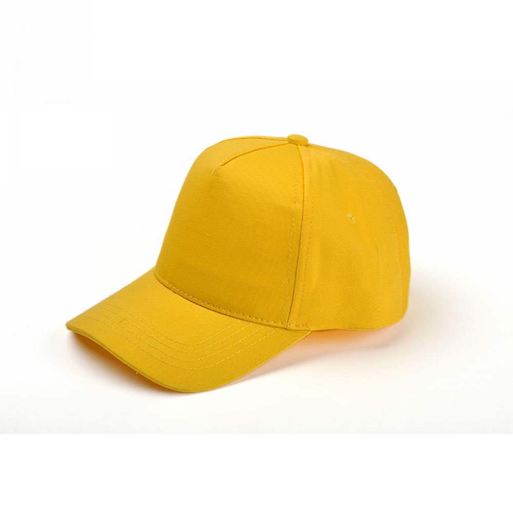 Yellow Color Baseball Cap with Customized Embroidery Logo