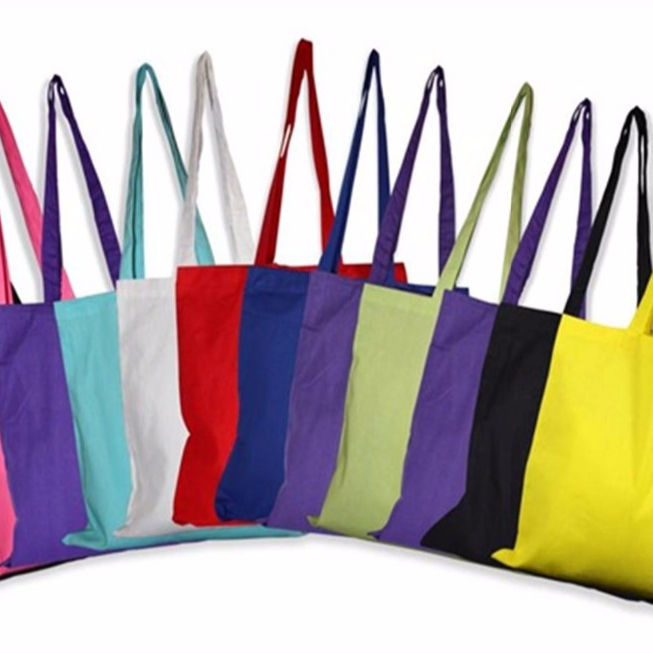 Dyed cotton shopping bags