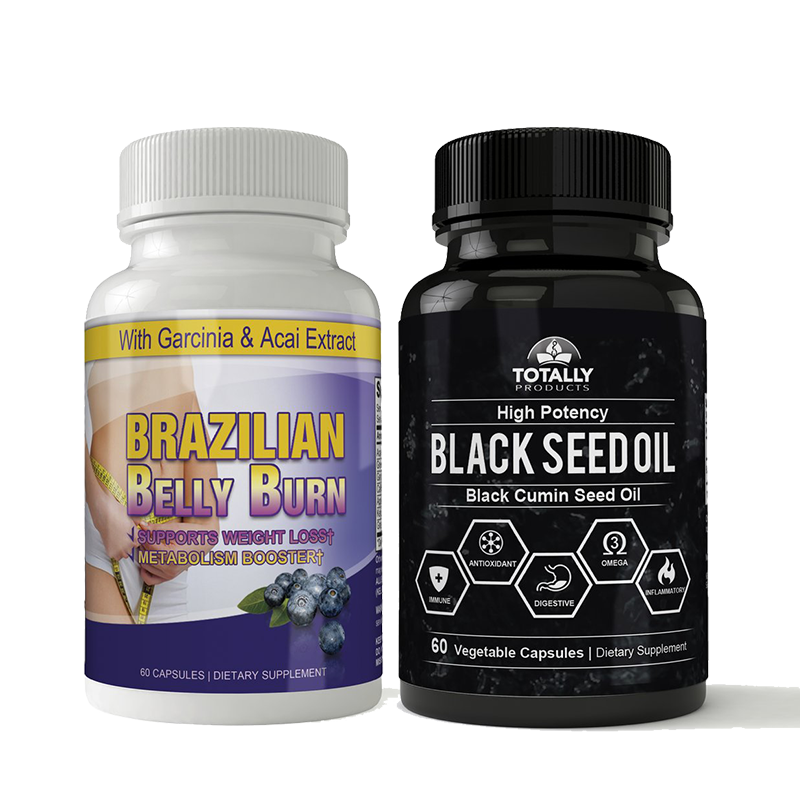 Brazilian Belly Burn and Black Seed Oil Combo Pack