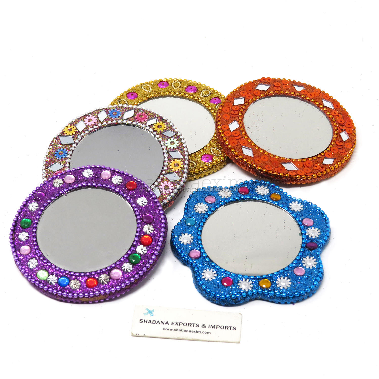 Small Look Mirror Indian Rajasthani Mirrors Single Sided Pocket Mirror
