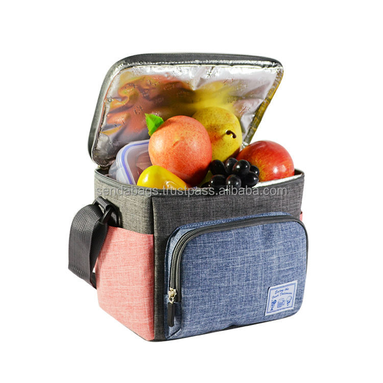 OEM shoulder Outdoor Lunch Picnic Food bag Insulated Thermal Cooler Bag made in Vietnam